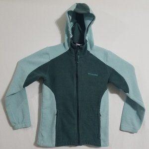 Columbia Womens Medium Green Hooded Fleece Jacket